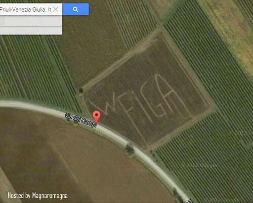 foto goliardica da Google Maps: wlafiga