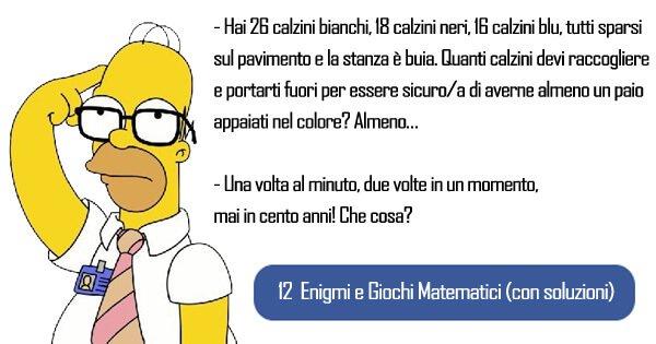 12 Indovinelli Matematici Con Soluzione